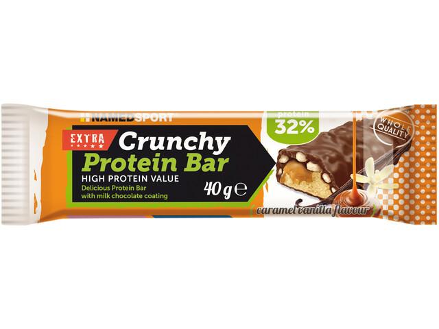 NAMEDSPORT Crunchy Proteinriegel Box 24x40g Caramel Vanilla